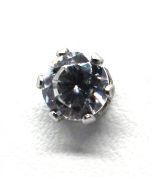 Σκουλαρίκια strass με πέτρα από ζιργκόν (5mm) ERG 04-1