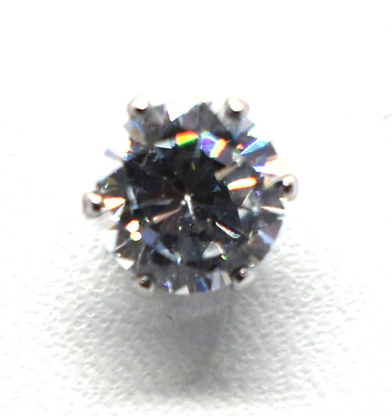 Σκουλαρίκια strass με πέτρα από ζιργκόν (6mm) ERG 04-2
