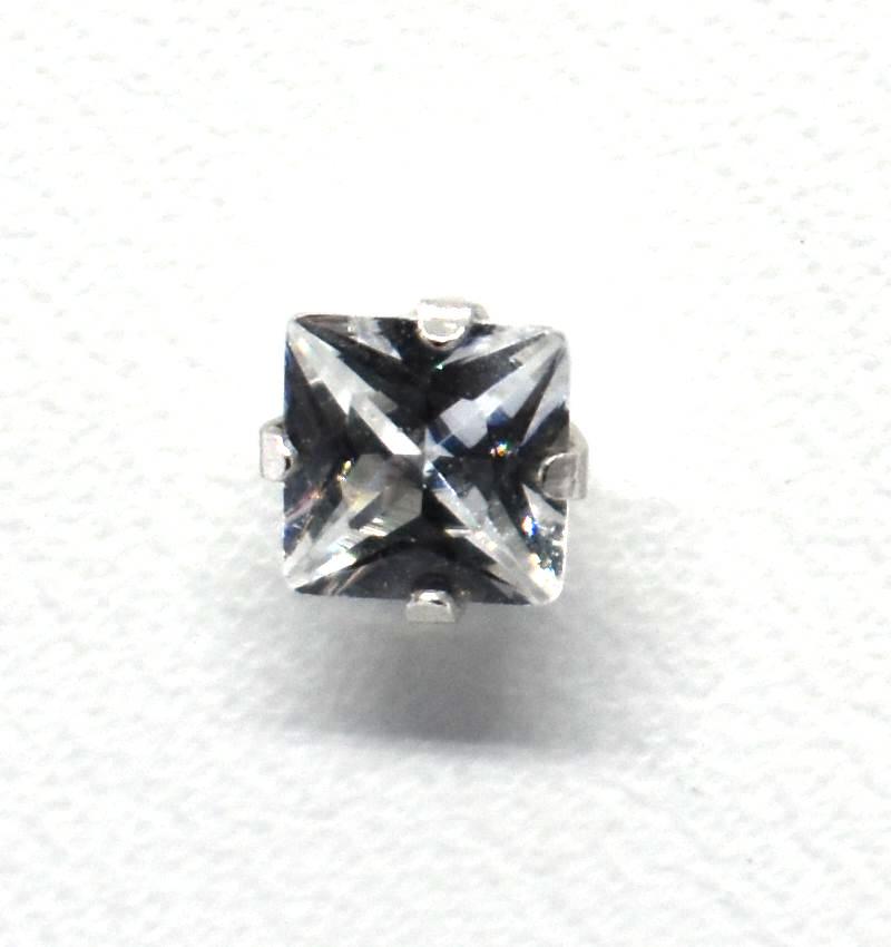 Σκουλαρίκια strass με πέτρα από ζιργκόν (4mm) ERG 04-3