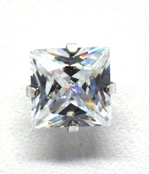 Σκουλαρίκια strass με πέτρα από ζιργκόν (6mm) ERG04-4