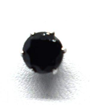 Σκουλαρίκια με μαύρη πετρά και σε διαφορετικό μέγεθος ERG 05-1