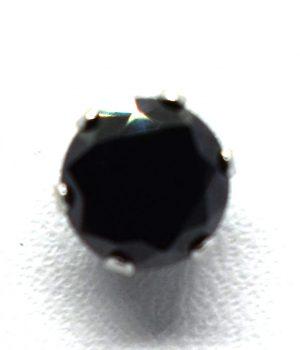 Σκουλαρίκια με μαύρη πετρά και σε διαφορετικό μέγεθος ERG 05-2