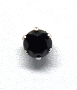 Σκουλαρίκια με μαύρη πέτρα από ζιργκόν (4mm) ERG 05-4