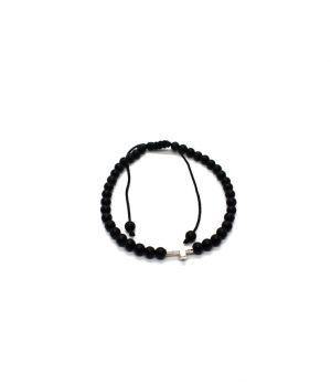 Ανδρικό βραχιόλι με μαύρο όνυχα BA 0580