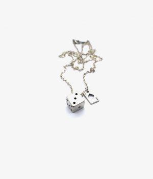ανδρικό κολιέ από ασήμι manfistgr Ν0006Μ