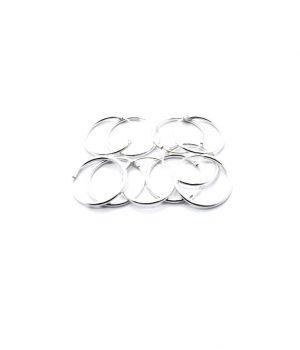 Σκουλαρίκια τύπου ''κρίκος'' ασήμι (1,2 Χ 16mm) ΚΑ 5