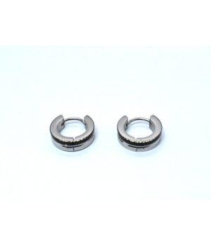 Σκουλαρίκια τύπου ''κρίκος'' ατσάλι (4,00Χ13mm) HEA654