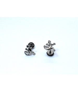 Σκουλαρίκια τύπου ''βιδωτό'' ατσάλι manfistgr AB0916