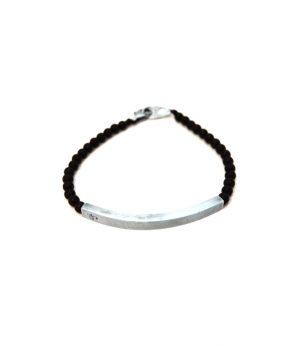 Βραχιόλι με ασημένιο (925'') στοιχείο πέτρες black onyx & ασημένιο (925'') κούμπωμα B0143M