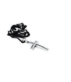 Ανδρικό κολιέ σταυρός με αλυσίδα HC4303