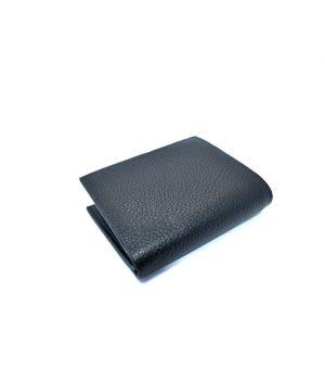 Ανδρικό μαύρο πορτοφόλι με ανάγλυφη επιφάνεια PORT01