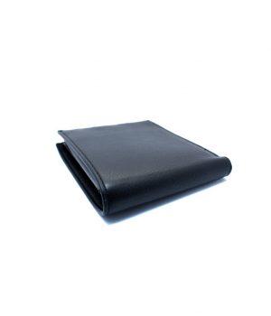 Ανδρικό μαύρο πορτοφόλι με ανάγλυφη υφή PORT03