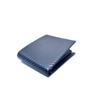 Ανδρικό μπλε πορτοφόλι με ανάγλυφη επιφάνεια PORT04