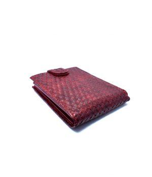 Ανδρικό κόκκινο πορτοφόλι με ανάγλυφη υφή PORT08