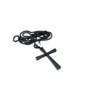Ανδρικό κολιέ σταυρός με αλυσίδα HC1840