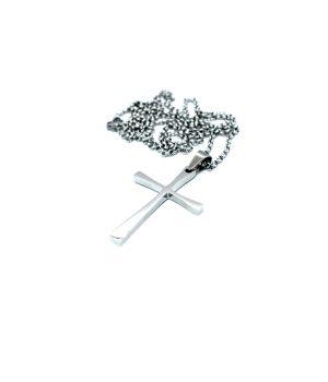 Ανδρικό κολιέ σταυρός με αλυσίδα HC1839