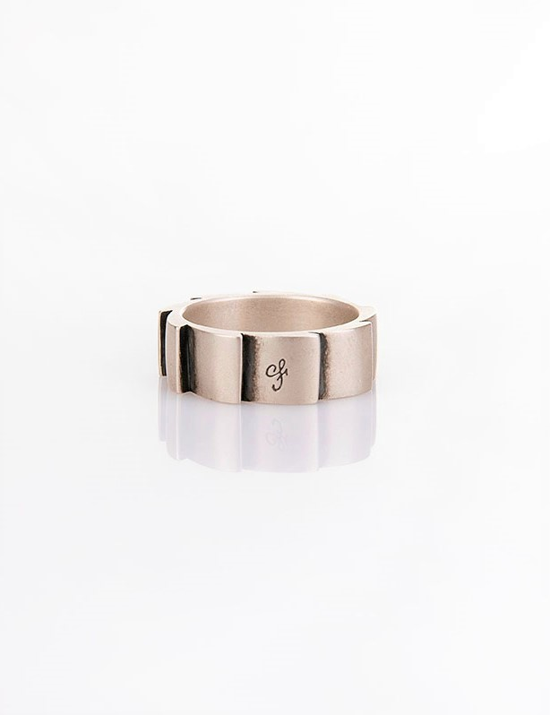 Ανδρικό δαχτυλίδι από ασήμι (925'') R000044