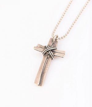 Ανδρικό κολιέ σταυρός N000008